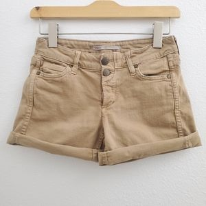 Vince Luce Stretch Denim Shorts in Desert Tan SK10